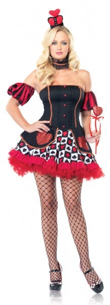 Wonderland Sexy Queen Of Hearts Costume
