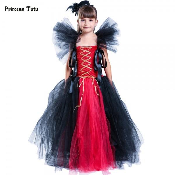 Baby Girls Christmas Halloween Costume Witch Vampire Cosplay Tutu