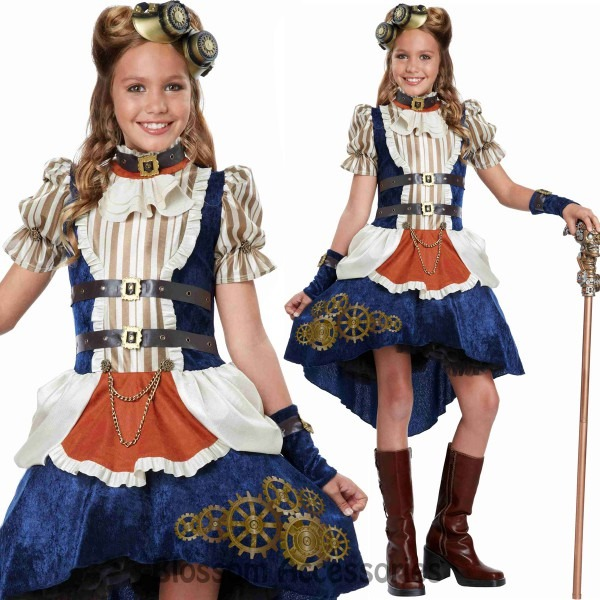 Ca114 Steampunk Fashion Tween Victorian Gothic Halloween Fancy