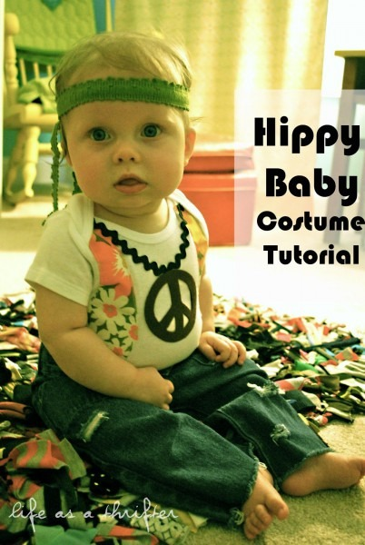 Life As A Thrifter  A Hippy Baby Costume Tutorial (a Blast From