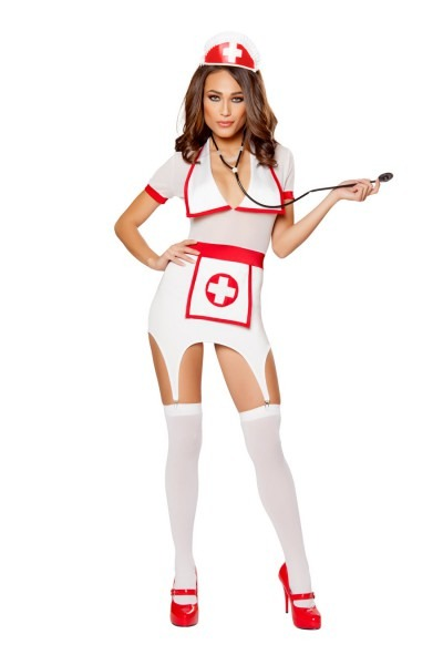 Doctors Naughty Assistant Costume, Sexy Nurse Costume