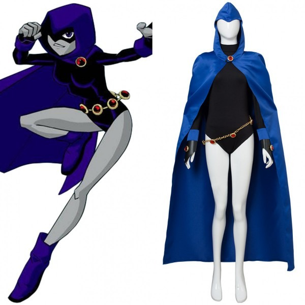 Teen Titans Raven Outfit Uniform Cosplay Costume