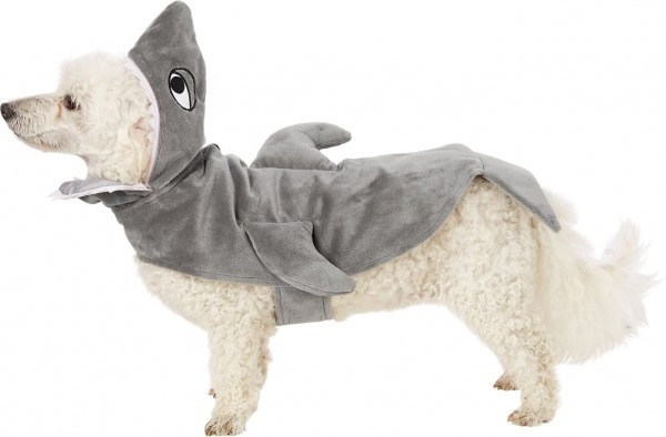 Frisco Shark Dog & Cat Costume, Medium