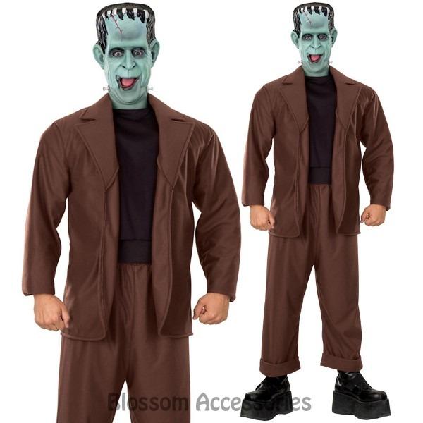 Cl886 Herman Munster Frankenstein Monster Halloween Mens Funny