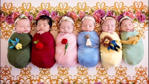 Tiny Babies Transformed To Disney Princesses