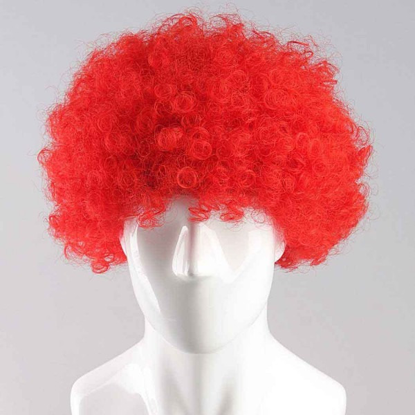 Red Afro Wig