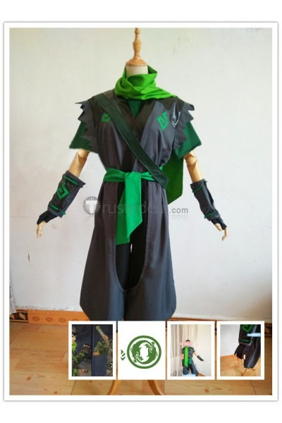 Overwatch Genji Sparrow Skin Cosplay Costume