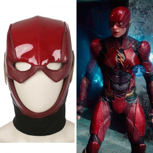 2017 Movie Justice League The Flash Cosplay Masks Barry Allen