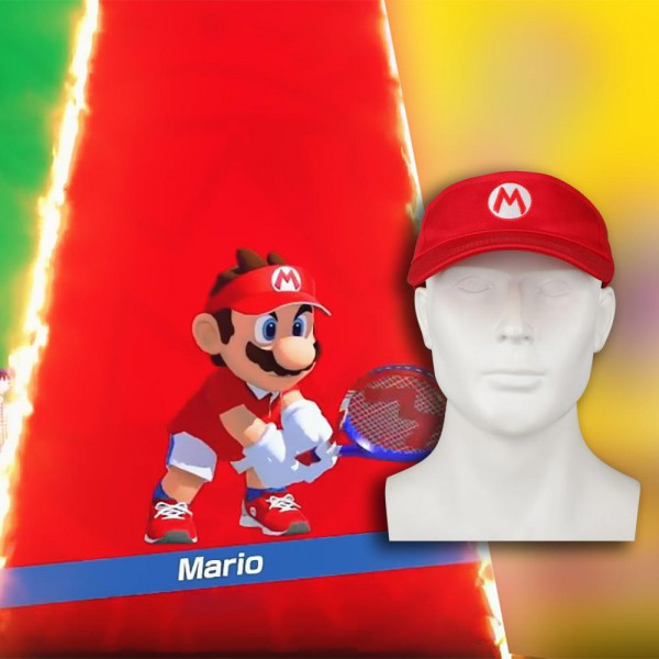 2018 Mario Tennis Ace Mario Tennis Cap Adjustable Sun Visor Sport