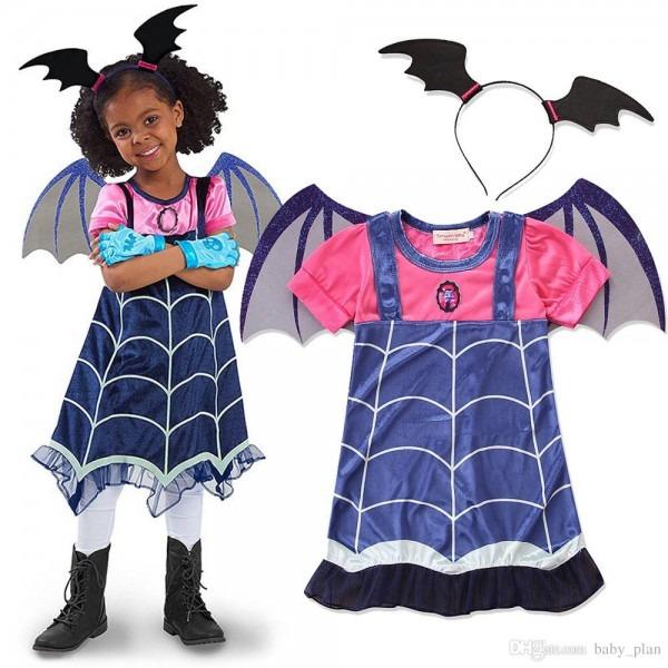 2019 2018 New Children Vampire Girl Princess Dresses Halloween