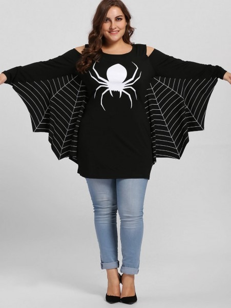 28 3xl Mens Halloween Costumes, 2018 Plus Size Spider Batwing