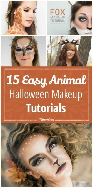 15 Easy Animal Halloween Makeup Tutorials