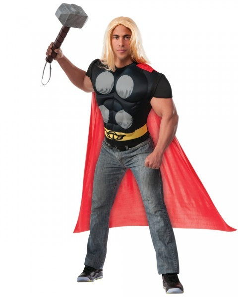 Thor Muscle Shirt And Cape Men's Adult Halloween Costume