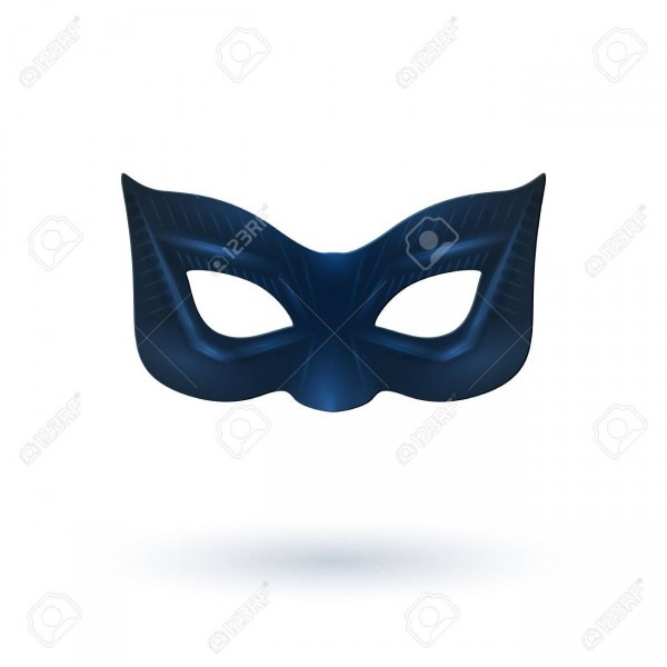 Female Black Leather Mask With Shadow For Superhero
