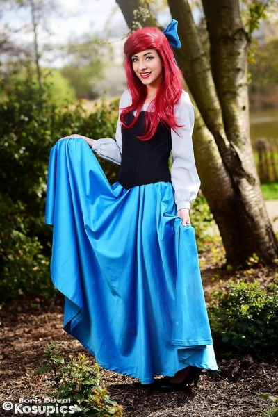 Ariel, The Little Mermaid Princess Disney  Blue Dress Costume By