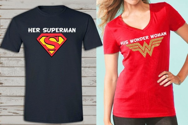 Wonder Woman And Superman Inspired Couple Shirts, Birthday T