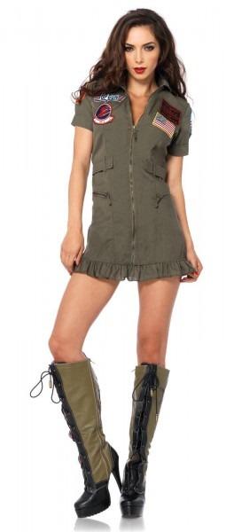 Sexy Top Gun Flight Dress Adult Costume