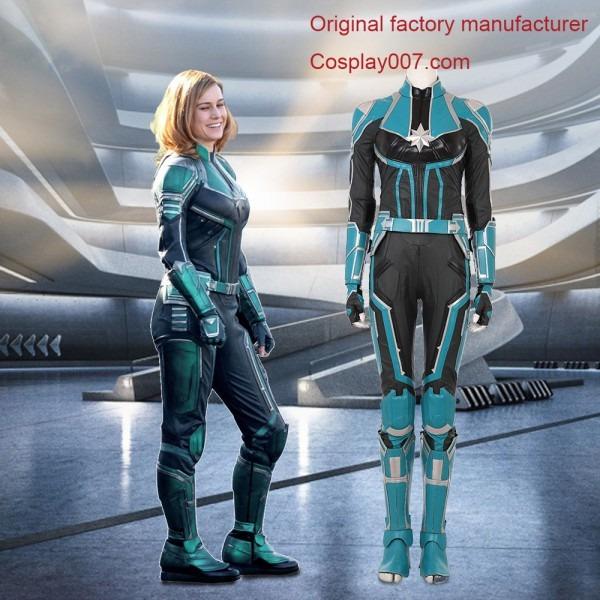 Captain Marvel Carol Danvers Replica Cosplay Costume For Adult