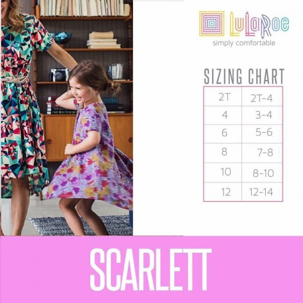 Lularoe Scarlett Sizing Chart For The Perfect Fit!