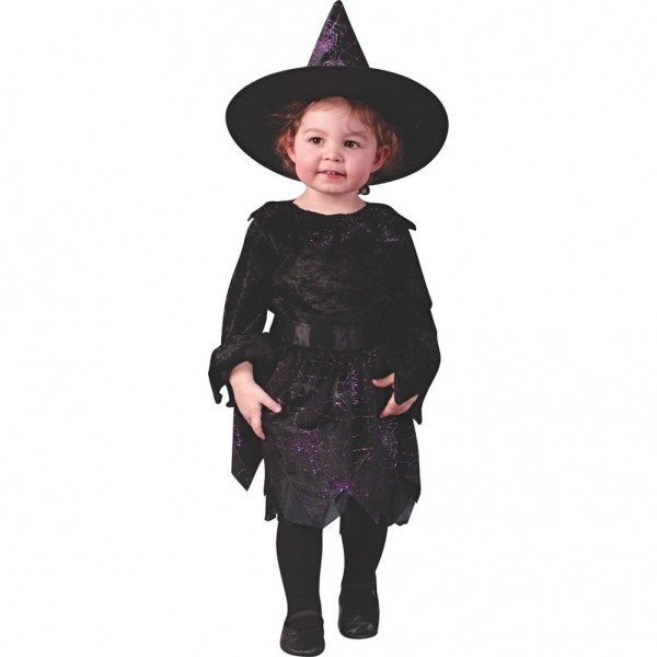 Nice Costumes Witch Spiderweb Glitter Toddler Costume Just Added