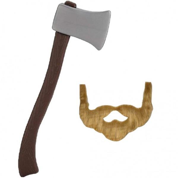 Amazon Com  Novelty Giant 24  Plastic Lumberjack Axe & Brown Beard