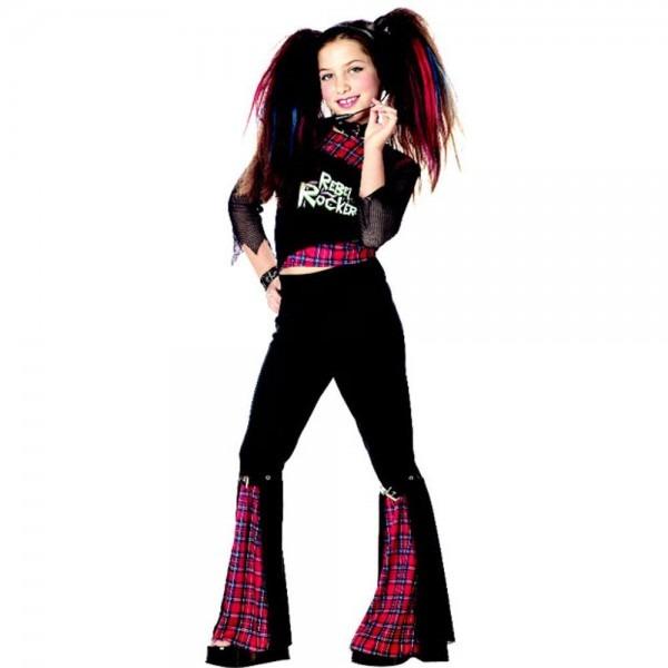 Amazon Com  Child's Rebel Punk Rocker Girl Halloween Costume (size