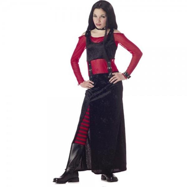 Amazon Com  Child's Punk Rocker Girl Halloween Costume (size