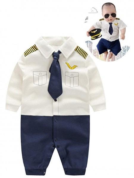 Amazon Com  Baby Pilot Boys Halloween Uniform Cosplay Romper