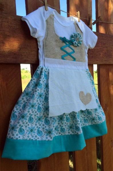 12 Month German Dirndl Dress (baby Dirndl, Oktoberfest Dress) By