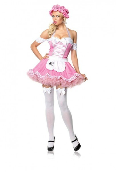 Amazon Com  Sexy Womens Halloween Pink Little Miss Muffet Costume