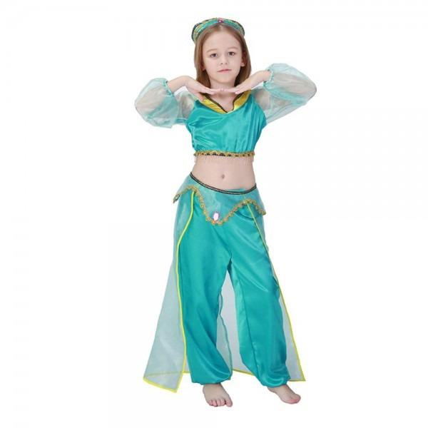 Amazon Com  Kids Indian Dance Cosplay Costume Halloween Arab Girl