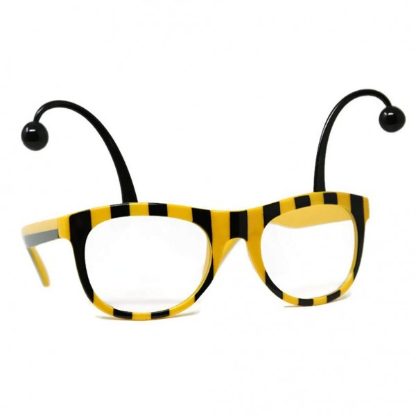 Amazon Com  Bumble Bee Glasses Adult Costume Accessory Black