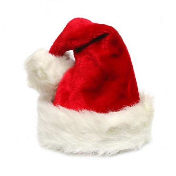 Amazon Com  Deluxe Adult Sized Thick Plush Santa Hat  Clothing