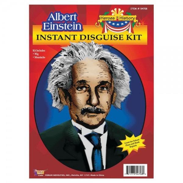 Heroes In History  Albert Einstein Costume Wig & Mustache