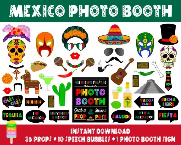 Printable Mexico Booth Propsphoto Booth Sign