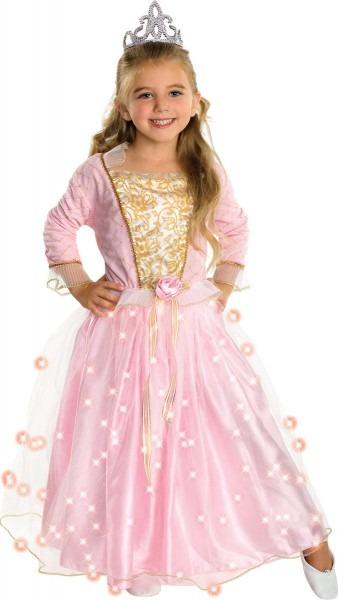 Amazon Com  Child's Rose Princess Costume With Fiber Optic Light