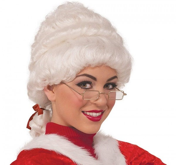 Amazon Com  Faerynicethings Adult Size Deluxe Mrs  Santa Claus Wig