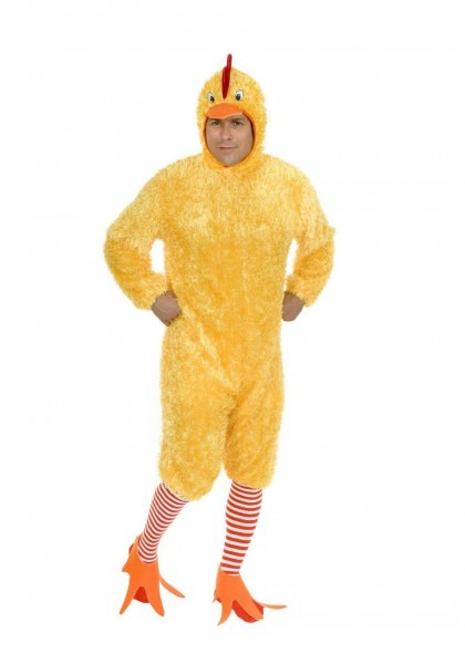 Amazon Com  Charades Adult Size Funky Yellow Fuzzy Chicken Suit