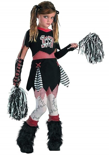 Amazon Com  Disguise Girl's Gothic Cheerleader Costume Black And