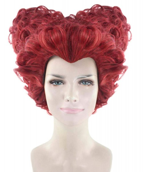 Amazon Com  Queen Of Hearts Wig, Red Adult Hw