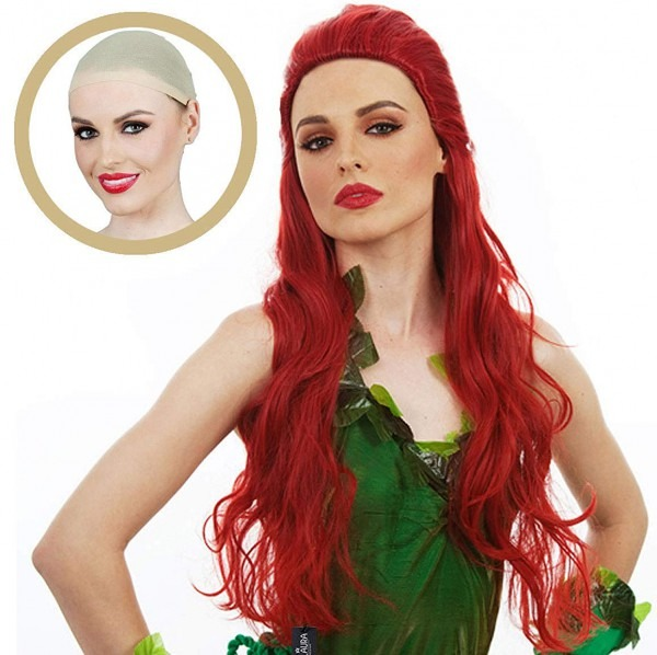 Amazon Com  30  Long Red Cosplay Wig Poison Ivy Curly Hair Wavy