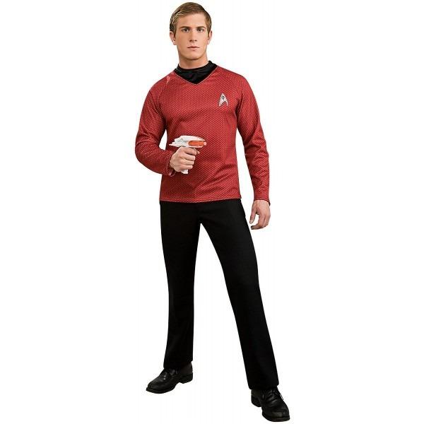 Amazon Com  Deluxe Star Trek Shirt Adult Costume Red