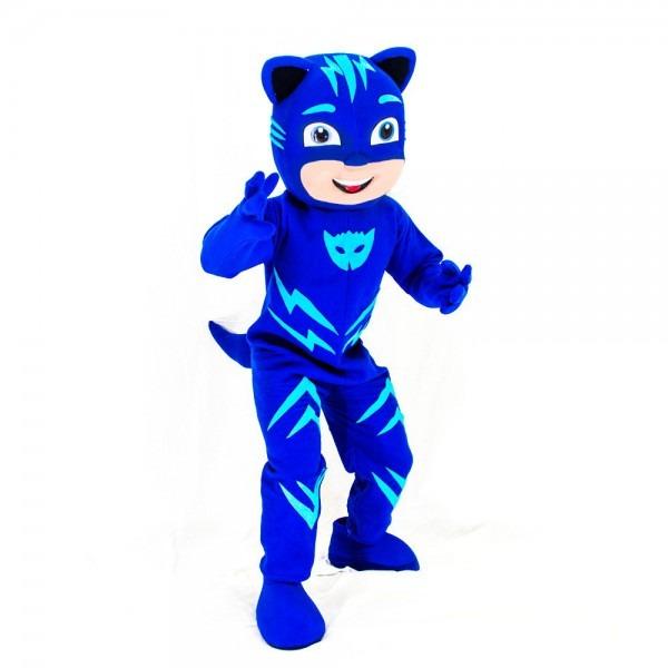 Amazon Com  Kf Blue Pj Mask Mascot Costume Catboy Party Adult