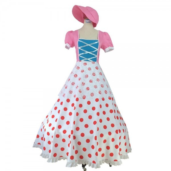 Toy Story Bo Peep Cosplay Costume Civil War Style Vintage Dress