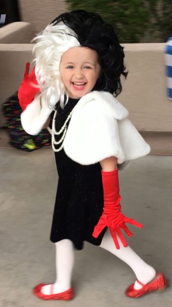 Cruella De Vil ❤   Girls Halloween Costume • Diy Costume