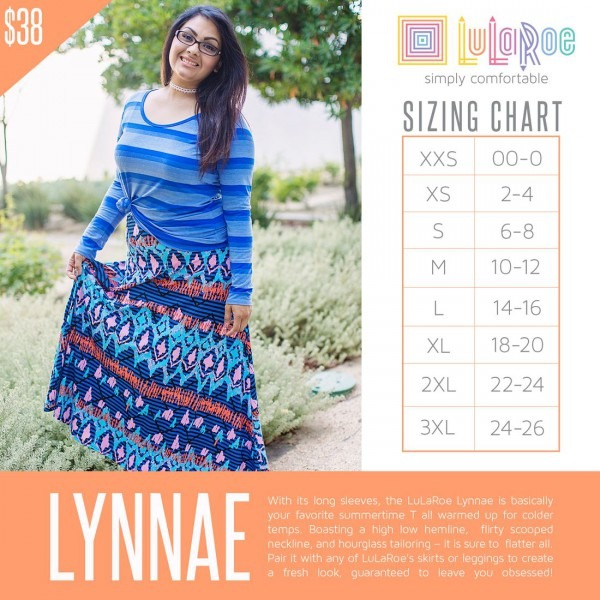 Lularoe Lyanne Size Chart  Click The Link To Shop Lynnae And Over