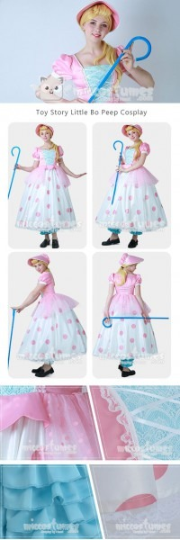 Toy Story Little Bo Peep Cosplay Dress Costume With Hat Made By