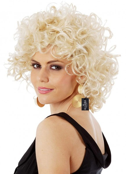 Amazon Com  Allaura Short Blonde Curly Sandy Wig 50s Grease