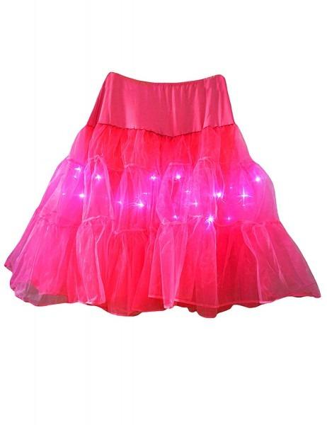 Bestgift Women's Led Light Up Plus Size Layered Tutu Half Skirt