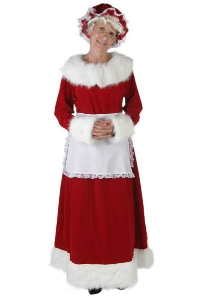 Amazon Com  Deluxe Mrs Claus Costume  Clothing
